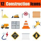 Flat design construction icon set Royalty Free Stock Image