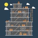 Flat design of construction site Stock Photos