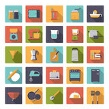 Flat Design Cooking Appliances Vector Icons Collection Royalty Free Stock Image