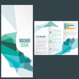 Flat design. Corporate business brochure in flat style Royalty Free Stock Image