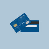 Flat Design Of Credit Card. Front and back view of credit card Stock Photo