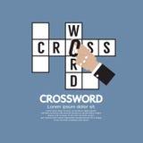 Flat Design Crossword royalty free illustration