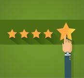 Flat design customer review, vector Stock Photos