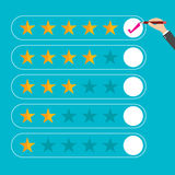 Flat design customer review, vector Royalty Free Stock Photo