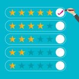 Flat design customer review, vector. Flat design customer review, Flat design style, Vector illustration. EPS 10 Royalty Free Stock Photo