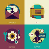 Flat design for customer service concepts Royalty Free Stock Images