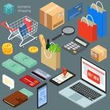 isometric shopping icons Royalty Free Stock Images