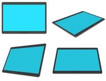 Flat design 3D tablet set Royalty Free Stock Photos