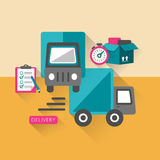 Flat design delivery concept icons set Stock Image