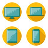 Flat Design Device Icons Stock Photos