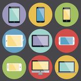 Flat Design Device Icons Royalty Free Stock Images