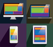 Flat design devices Stock Image