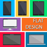 Flat Design Devices Icons. Vector Royalty Free Stock Photography
