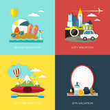 Flat design for different kinds of vacation Royalty Free Stock Photo