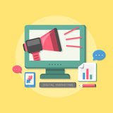 Flat design digital marketing concept Stock Images