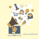 Flat design digital marketing concept Stock Photo