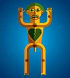 Flat design drawing of odd character, art picture made in cubism Stock Photography
