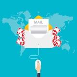 Flat design, E-mail marketing concept, vector Stock Photos