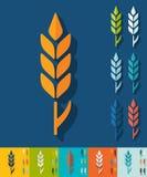 Flat design. ear of wheat Royalty Free Stock Photo