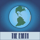 Flat design of the Earth Royalty Free Stock Photo