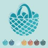 Flat design. easter basket Royalty Free Stock Images