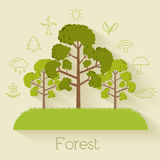Flat design of ecology, environment, green clean Royalty Free Stock Photo