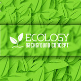 Flat design of ecology, environment, green clean Stock Photo