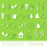 Flat design of ecology, environment, green clean Royalty Free Stock Images