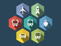 Flat design ecommerce icons Stock Image