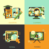 Flat design for the education concepts Stock Photo