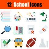 Flat design education icon set Stock Image