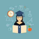 Flat design  for education time Royalty Free Stock Image