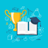 Flat design  for education time Stock Image