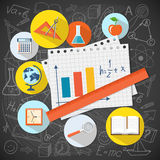 Flat design  for education time Stock Images
