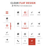 Flat design elements of eshop icons. Eshop icons for vendors. Clean Flat ui kit style for webdesign or mobile design Royalty Free Stock Photo