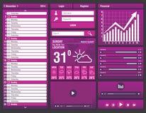 Flat design elements for mobile app Stock Images