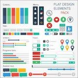 Flat design elements Royalty Free Stock Photos