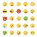 Flat Design Emoji- Round Stock Photo