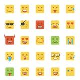 Flat Design Emoji- Square Royalty Free Stock Photo