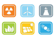 Flat design – energy icon set Stock Photography