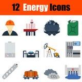 Flat design energy icon set Royalty Free Stock Images