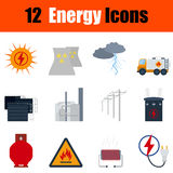 Flat design energy icon set. In ui colors. Vector illustration Stock Photo