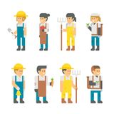 Flat design farmers set. Illustration vector Royalty Free Stock Image