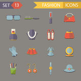 Flat Design Fashion Symbols Accessories Icons Set Vector Illustration Royalty Free Stock Photos