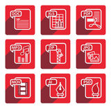 Flat design file type icon. Vector Set of flat design file type icon design, illustration design Stock Photography