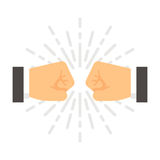 Flat design fist bump. Illustration vector Royalty Free Stock Images