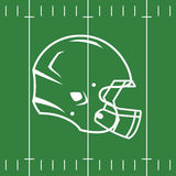 Flat Design of Football Field and Helmet Stock Photos