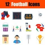 Flat design football icon set Stock Images