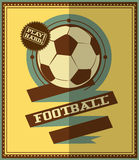 Flat design. Football retro poster Royalty Free Stock Images