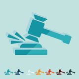 Flat design. gavel Royalty Free Stock Photo